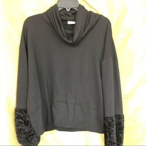 Infinity Raine Tops - INFINITY RAINE Womens Long Sleeve Crop Top Black